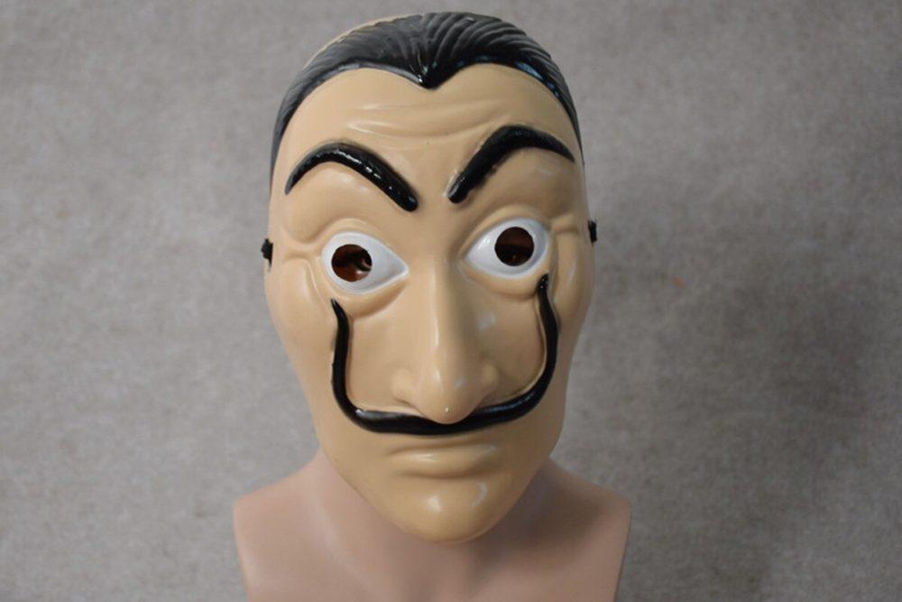 Comedy Master La Casa De Papel Dali Mask Halloween Masquerade Cosplay Funny Accessories 3