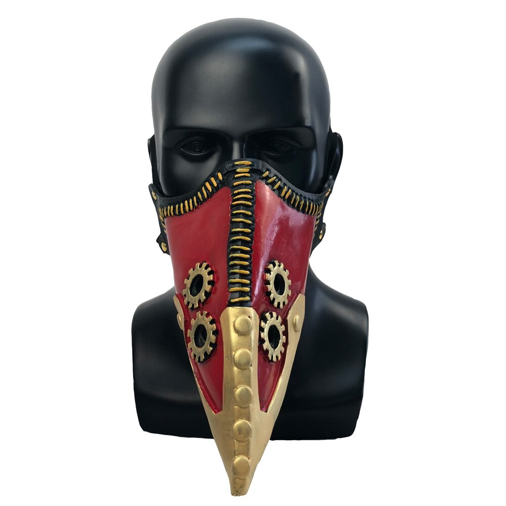 Anime My Hero Academia Overhaul Mask Cosplay Crow Mouth Plague Doctor Halloween Masks Steampunk Face Long Beak Gothic Helmet 4