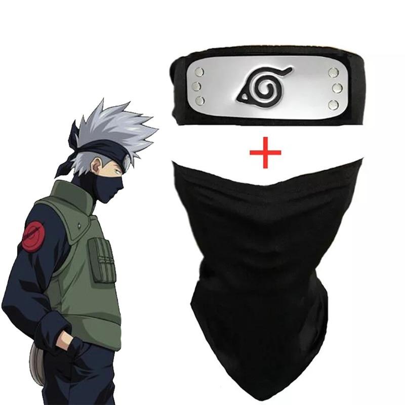 Anime Naruto Hatake Kakashi Mask Cosplay Props Headband Weapons Bag Halloween Accessories 1