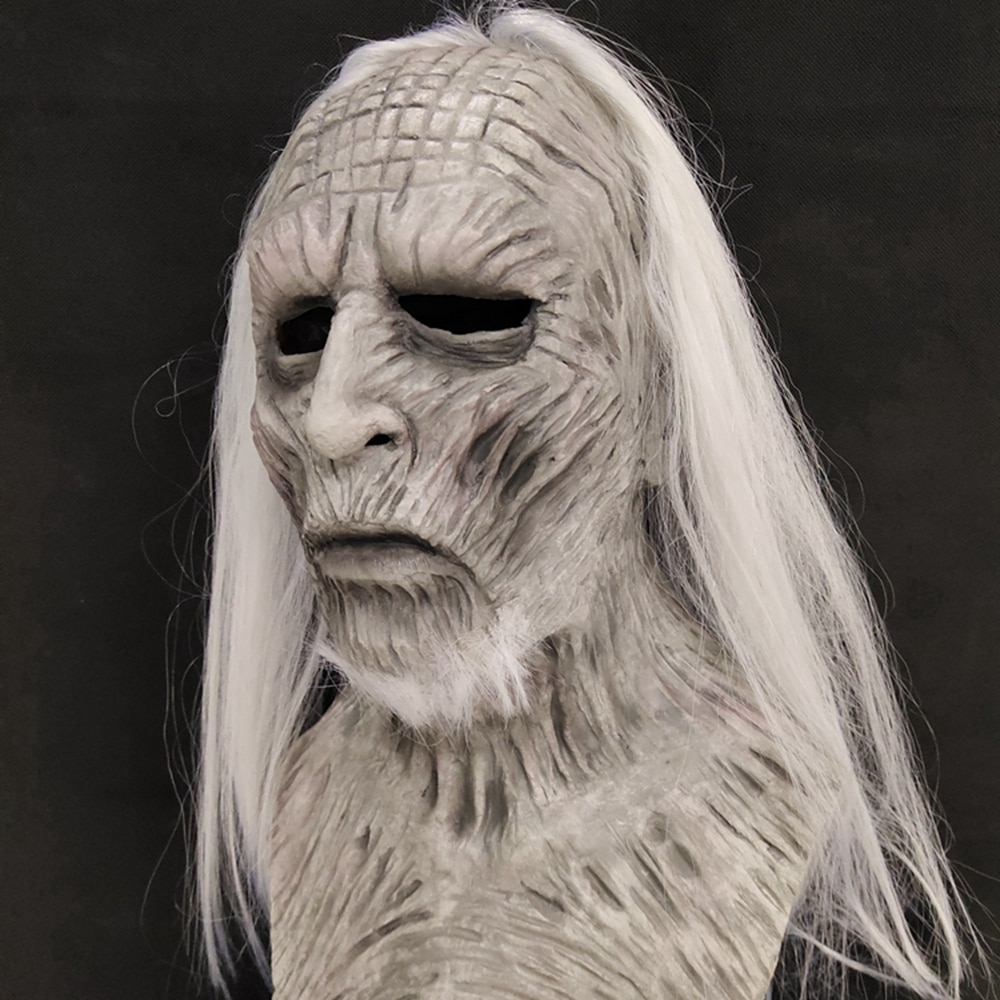 Molezu Halloween Night King Latex Mask Halloween Realistic Scary Cosplay Costume Latex Party Mask 3